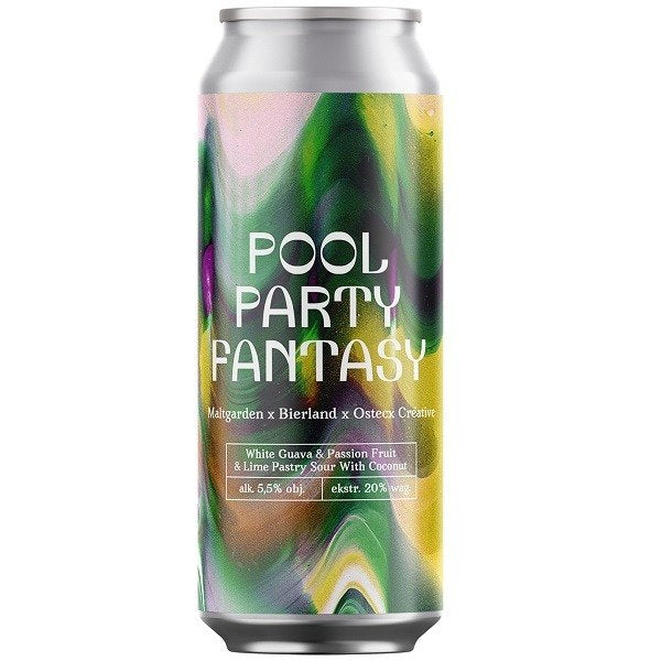 Pool Party Fantasy - Maltgarden - White Guava & Passionfruit & Lime Pastry Sour with Coconut, 5.5%, 500ml Can