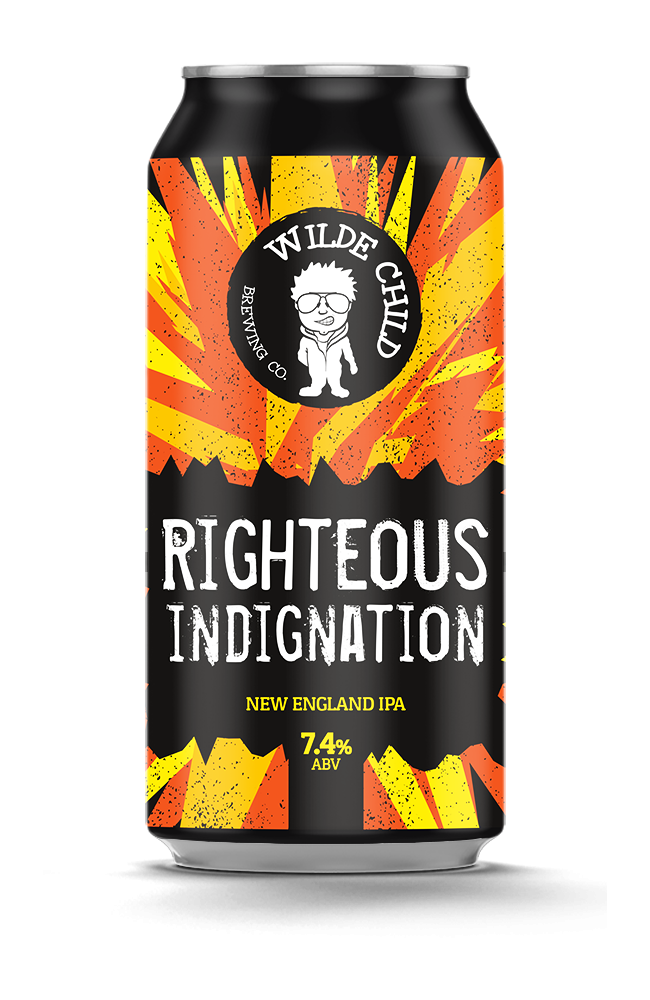 Righteous Indignation - Wilde Childe Brewing Co - New England IPA, 7.4%, 440ml Can