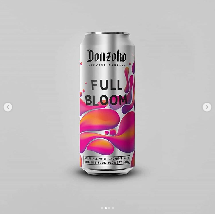 Full Bloom - Donzoko Brewing Co - Jasmine & Hibiscus Sour, 4.7%, 500ml Can