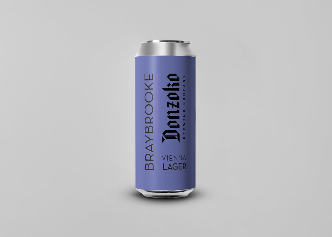 Vienna Lager - Donzoko Brewing Co X Braybrooke - Vienna Lager, 5%, 500ml Can