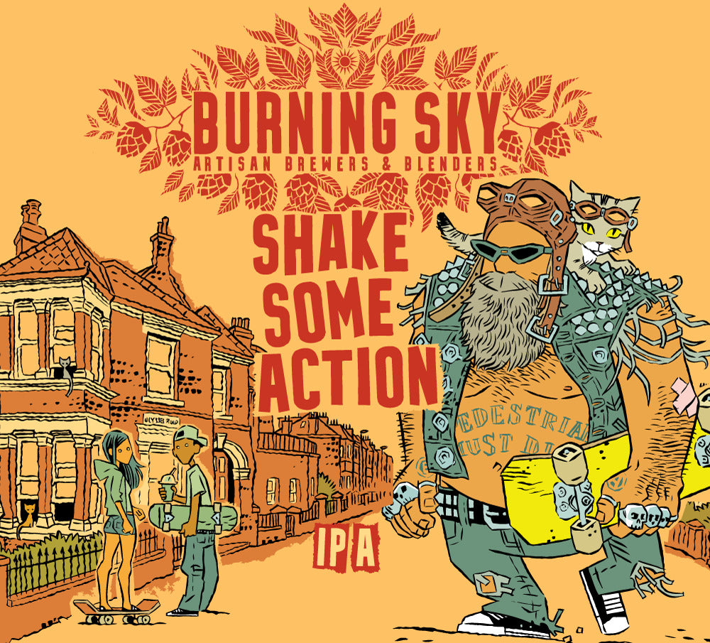 Shake Some Action - Burning Sky - IPA, 7%, 440ml Can