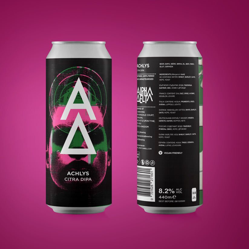 Achlys - Alpha Delta Brewing - Citra DIPA, 8.2%, 440ml Cans