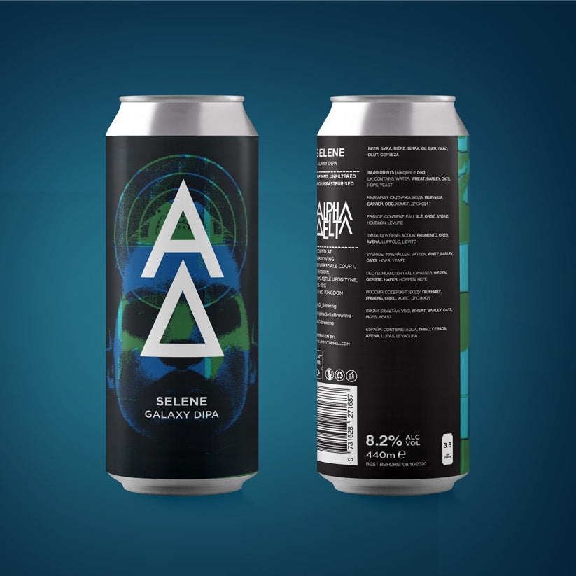 Selene - Alpha Delta Brewing - Galaxy DIPA, 8.2%, 440ml Can