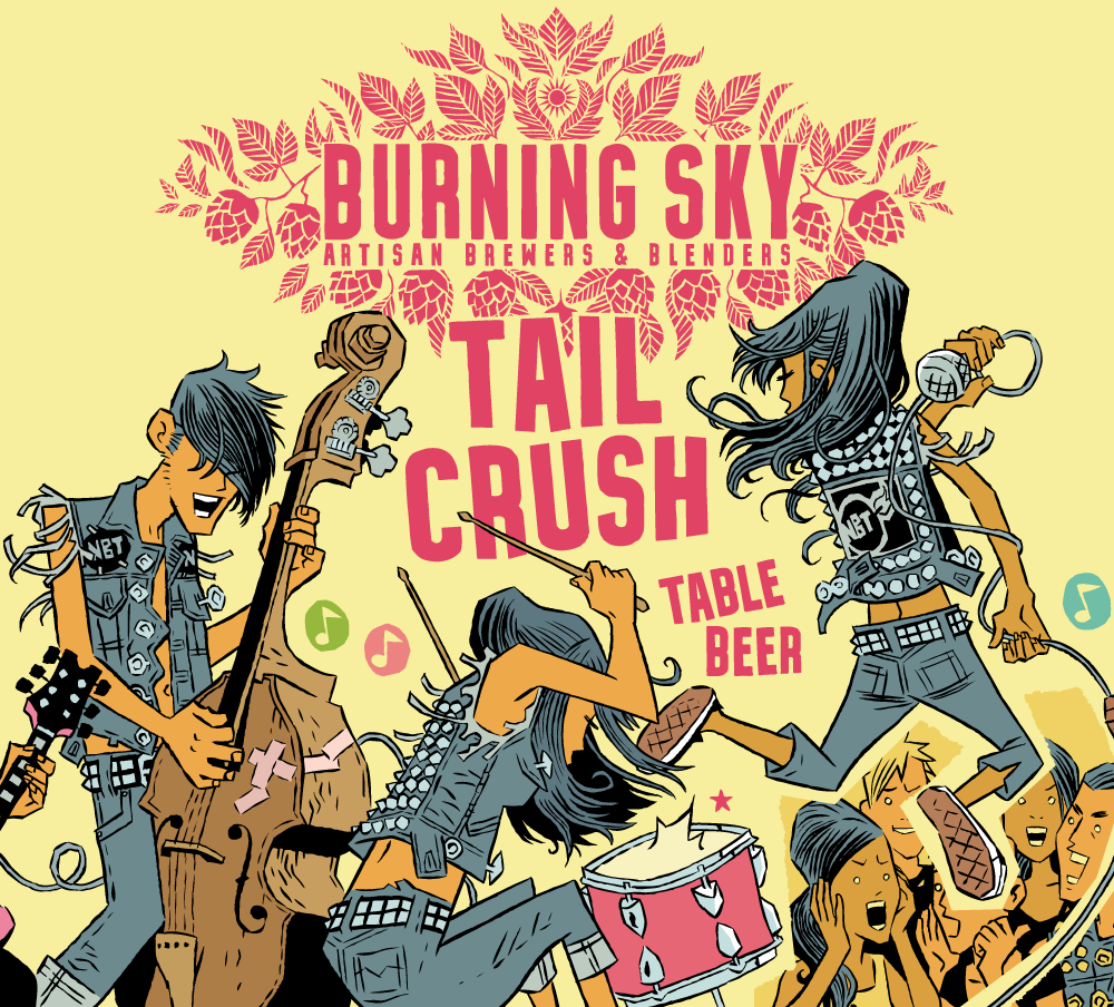 Tail Crush - Burning Sky - Table Beer, 3%, 440ml Can