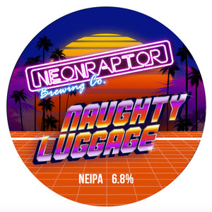 Naughty Luggage - Neon Raptor - New England IPA, 6.8%, 440ml Can