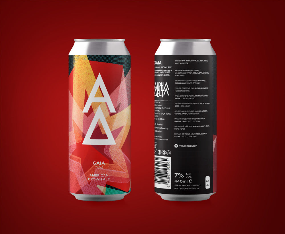 Gaia - Alpha Delta Brewing - American Brown Ale, 7%, 440ml Cans