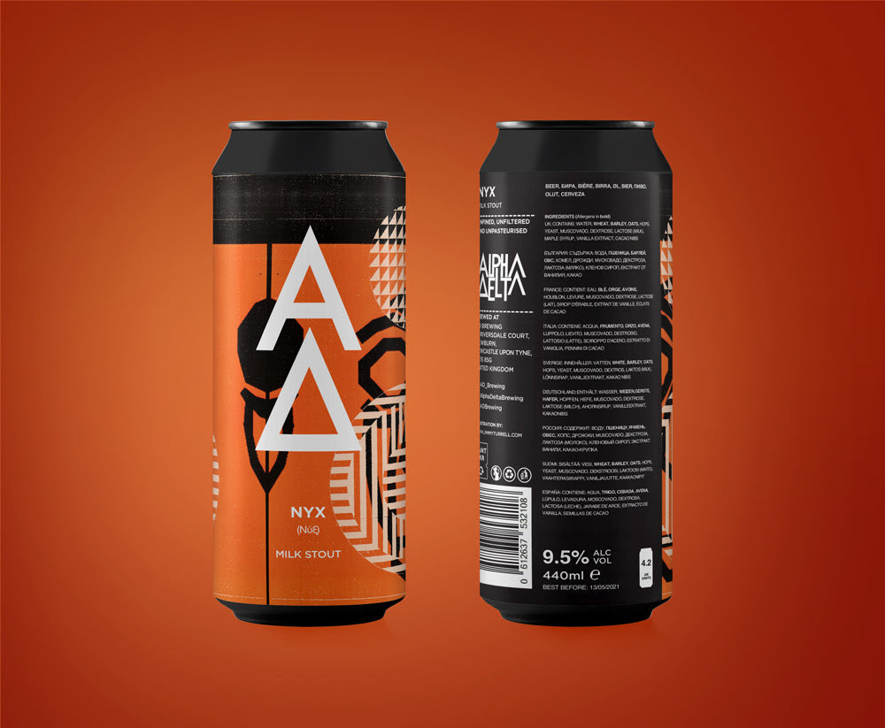 NYX - Alpha Delta Brewing - Imperial Milk Stout, 9.5%, 440ml Can