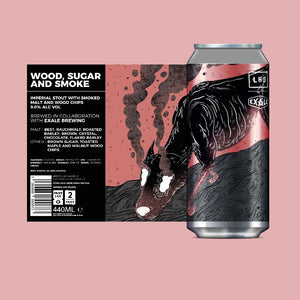 Wood, Sugar & Smoke - Left Handed Giant - Imperial Stout, 9%, 440ml