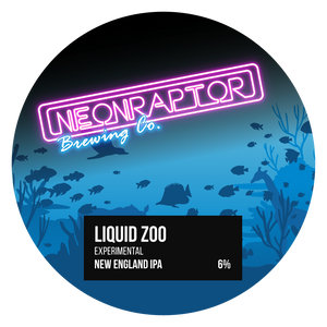 Liquid Zoo - Neon Raptor - Experimental New England IPA, 6%, 440ml