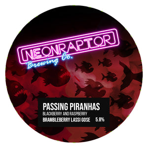 Passing Piranhas - Neon Raptor - Blackberry & Raspberry Brambleberry Lassi Gose, 5.8%, 440ml