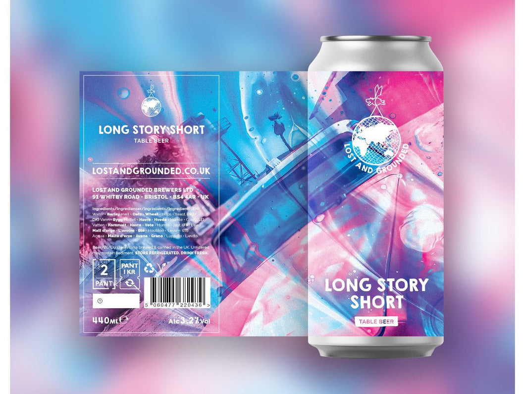 Long Story Story - Lost & Grounded - Table Beer, 3.2%, 440ml Can