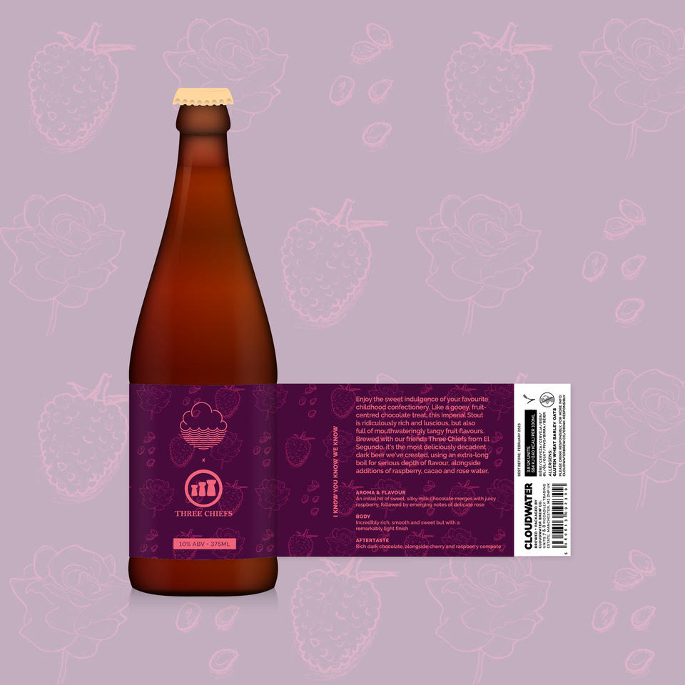 I Know You Know We - Cloudwater X Three Chiefs Brewing - Raspberry, Cacao & Rose Water Imperial Stout, 10%, 375ml