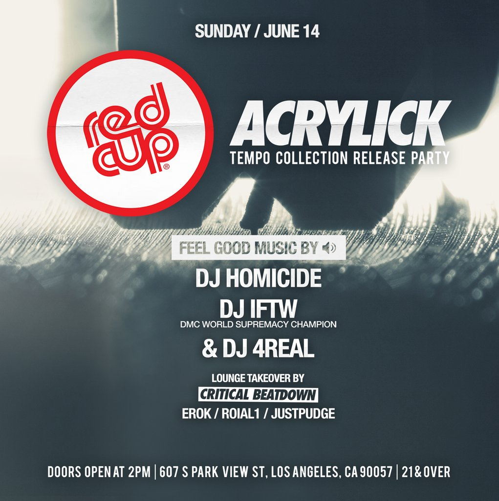 Acrylick x Redcup Sunday's
