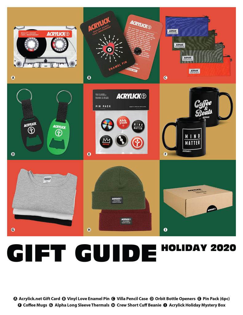 Acrylick Holiday Gift Guide 2020