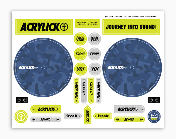 Acrylick Dj Cue Sticker Sheet Bluford