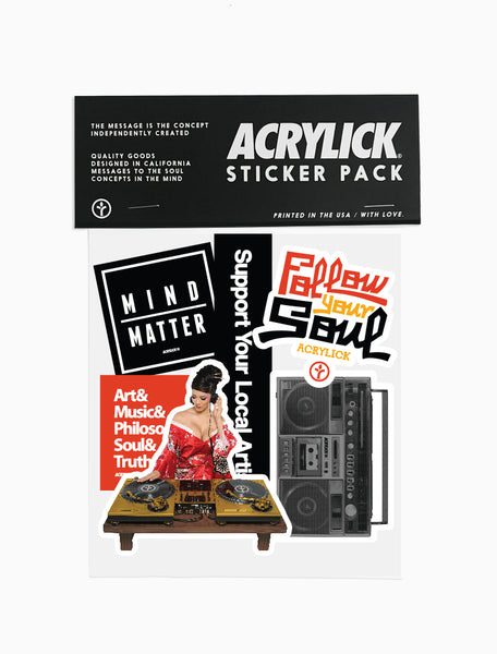 Acrylick - Classics - Sticker Pack (2142797725807)