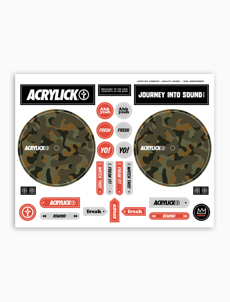 Acrylick Dj Cue Sticker Sheet