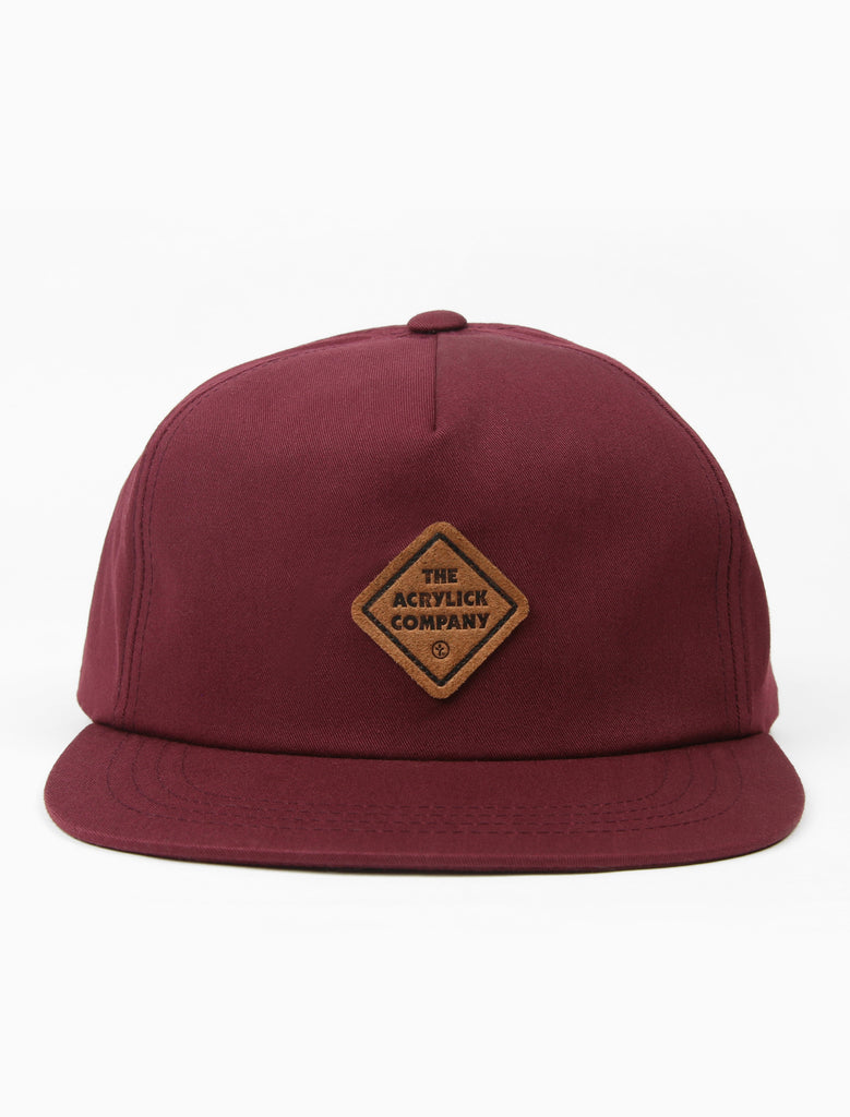 acrylick headwear 2019 midnighters hat burgundy leather patch (2206840914031)