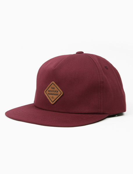 acrylick headwear 2019 midnighters hat burgundy leather patch