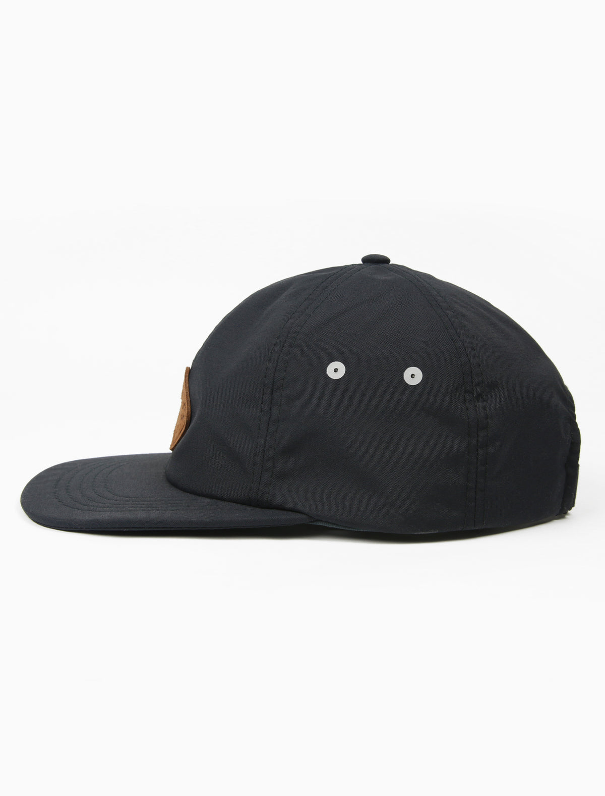 acrylick headwear 2019 midnighters packable hat, staydri, flexable hat hat black leather patch (2206889017455)