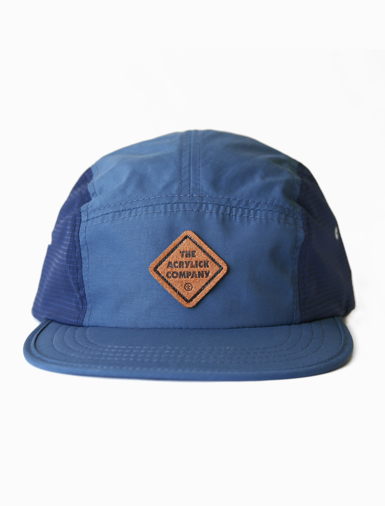 Acrylick 5 Panel Camper Packable Hat Indigo