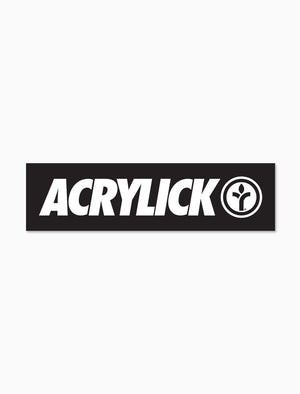 Acrylick Strike Logo Sticker