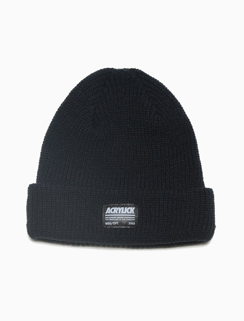 Knit cuff beanie featuring our Strikeout Label