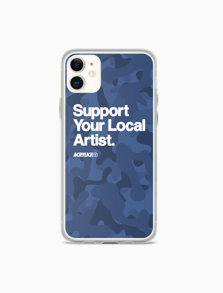 Acrylick Support your local artist Iphone case blufold