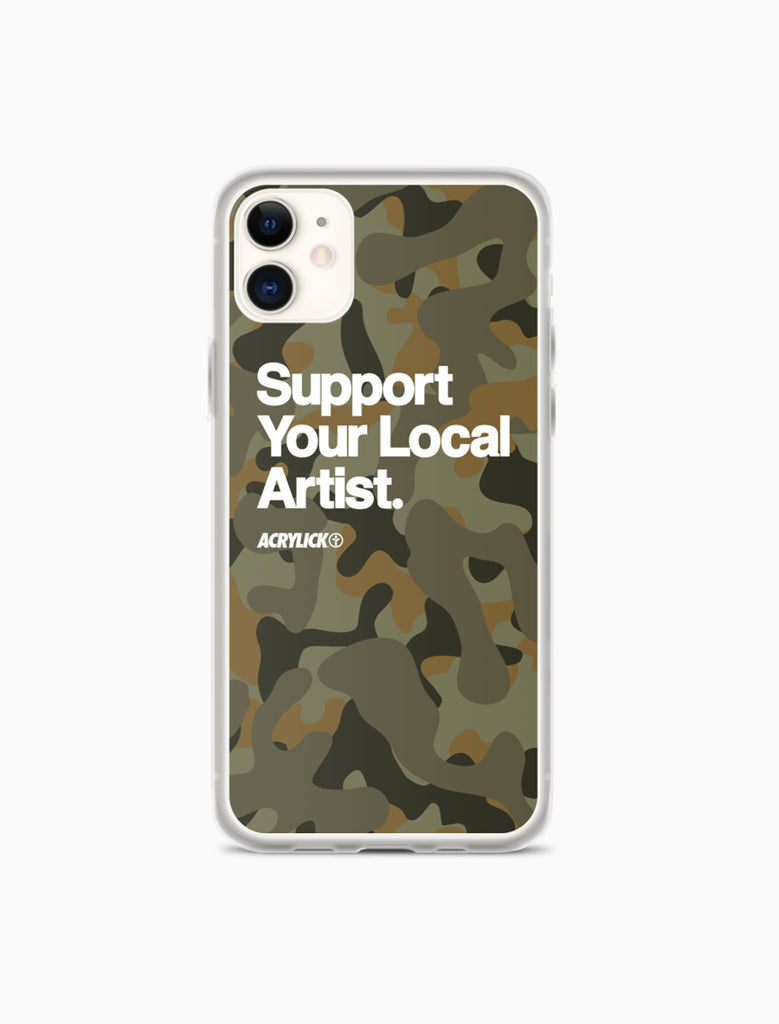 Acrylick Support your local artist Iphone case Duck Camo