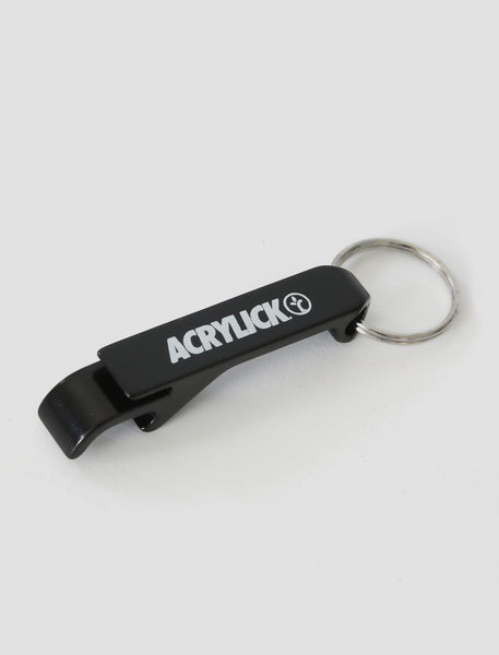 Acrylick Company - Metal Bottle opener can Black logo