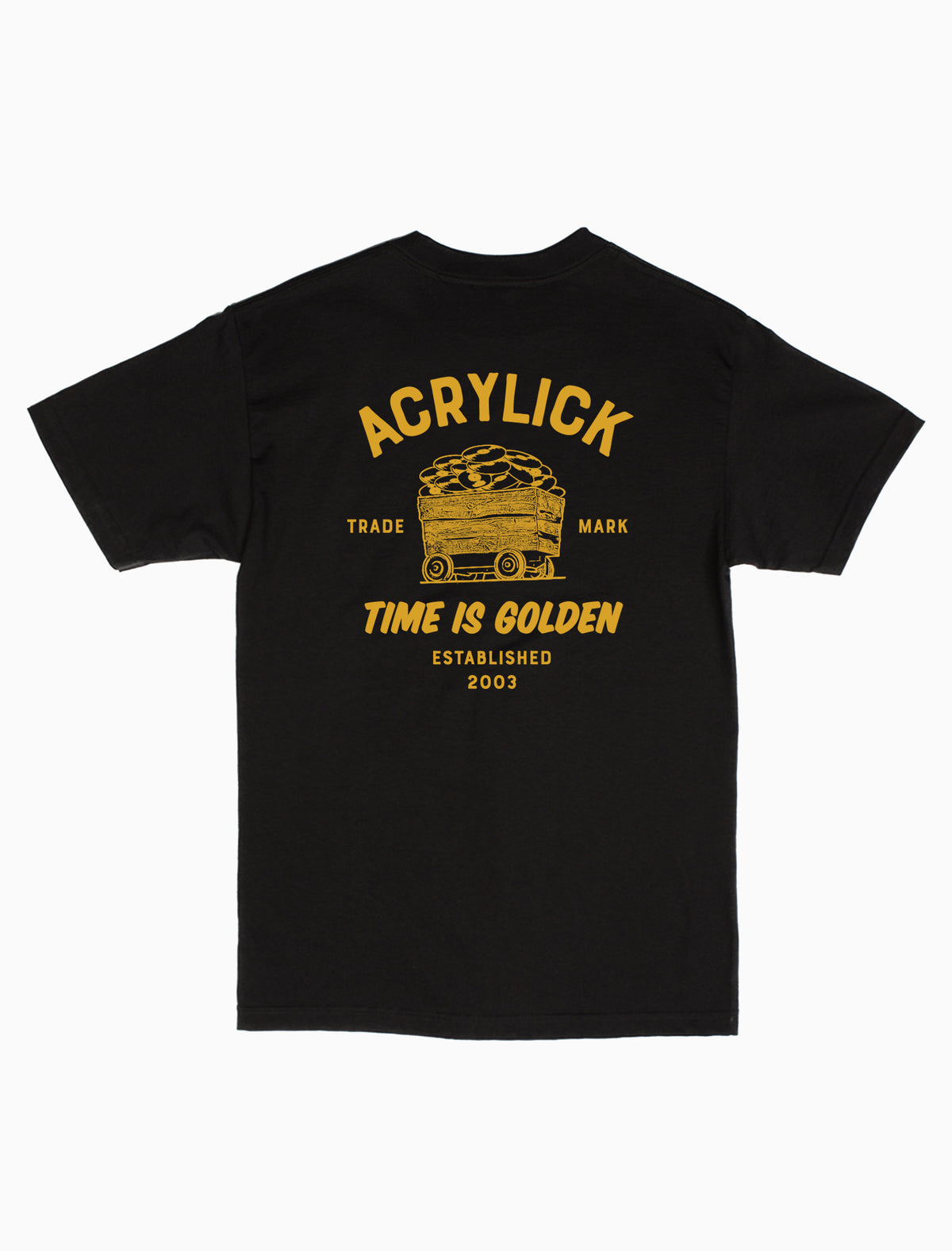 Acrylick Company - 2019 - Time is Golden Tee Short Sleeve Graphic T-Shirt
