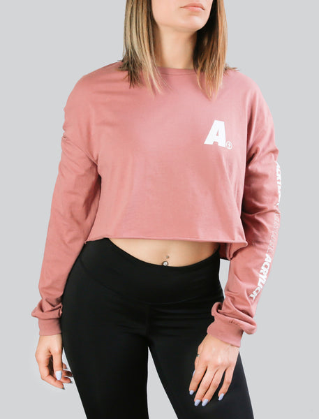 A-Plus Long Sleeve Crop (Womens)