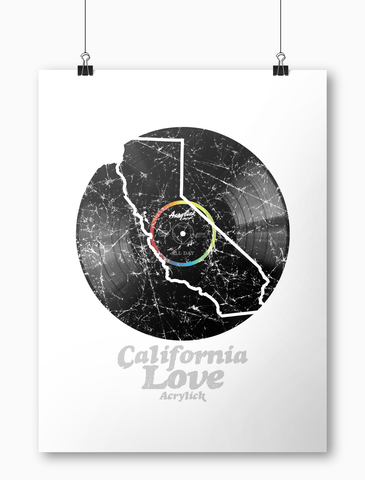 Acrylick Poster - California Love