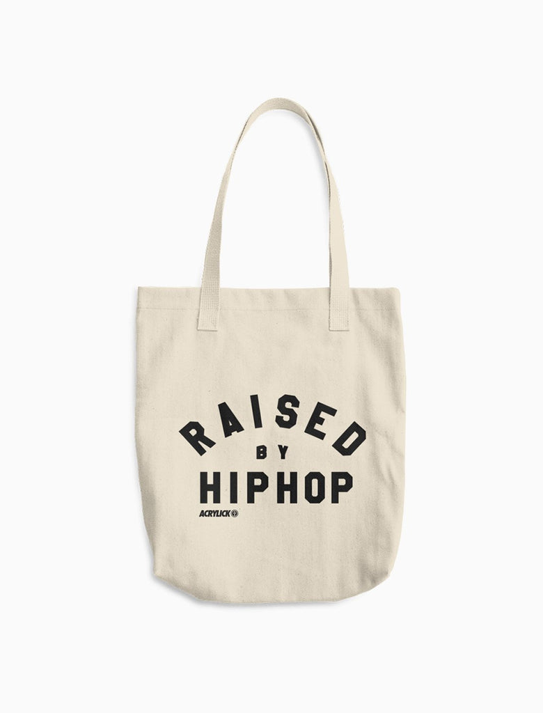 Tote Bag - Canvas - Raised By Hip-Hop - Acrylick - Music