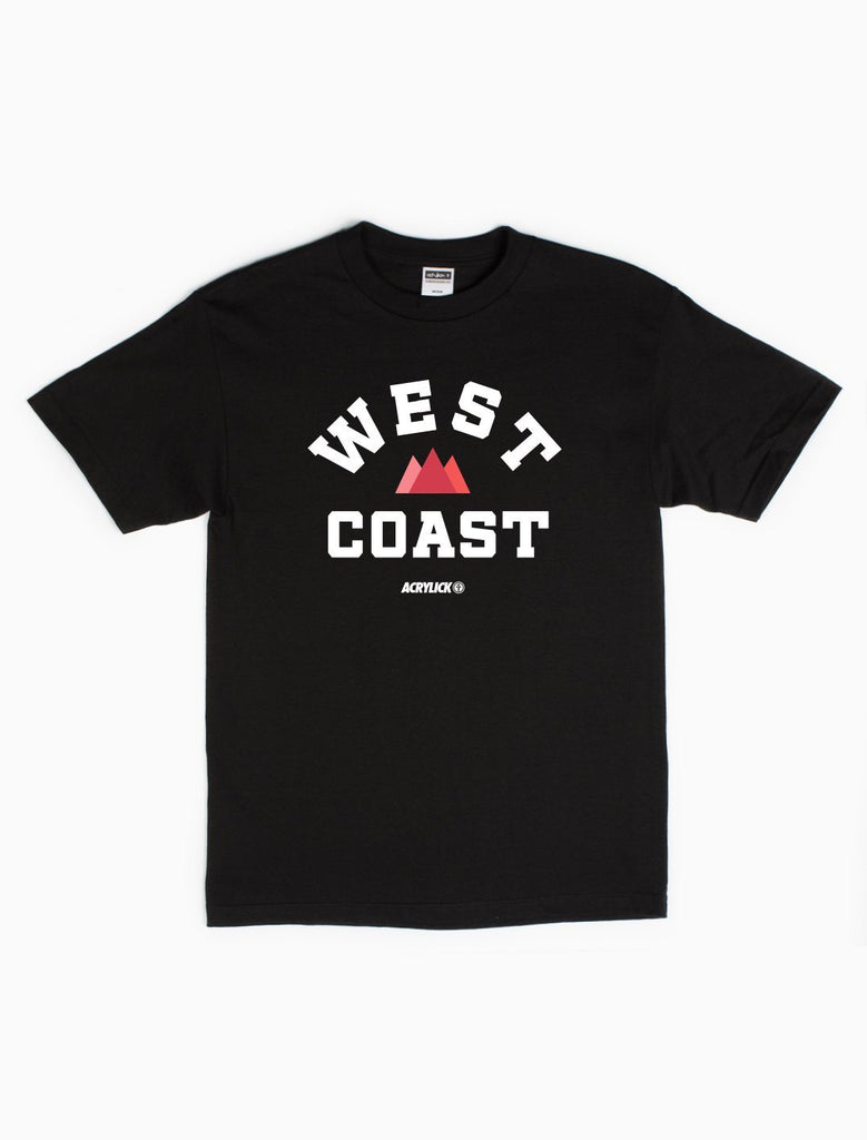 West Coast, Pacific Coast, Mens, Tshirt, Tee, Acrylick (255315836956)