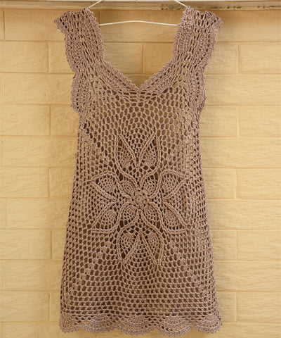 Boho Crochet Dress Summer Women Beach Cover Up Tank Dresses