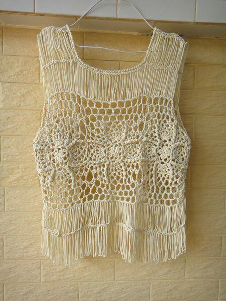 Boho Crochet Vest Women Festival Clothing