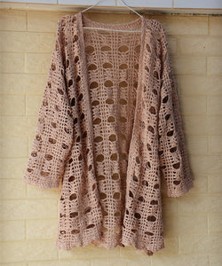 Crochet Cardigan Sweater Bohemian Women Clothing
