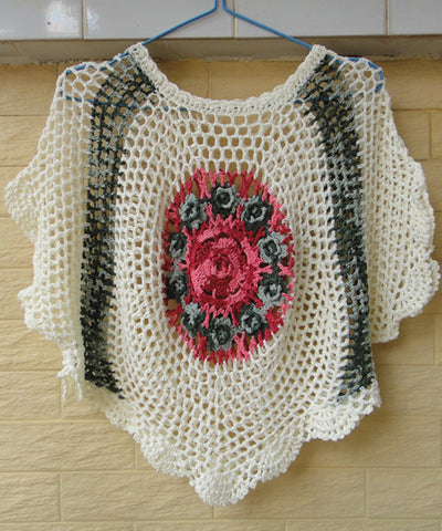 Crochet Flower Women Blouse Boho Chic Clothing