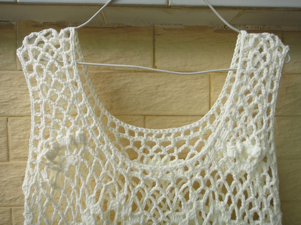 Crochet Vest Tank Top Women Bohemian Festival Clothing