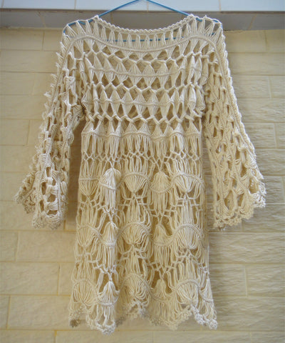 Bohemian Women Long Sleeve Crochet Blouse Boho Chic Gypsy Clothing