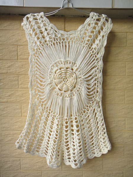 Hippie Crochet Flower Mandala Blouse Top Summer Beach Cover Up Women Boho Chic Clothing