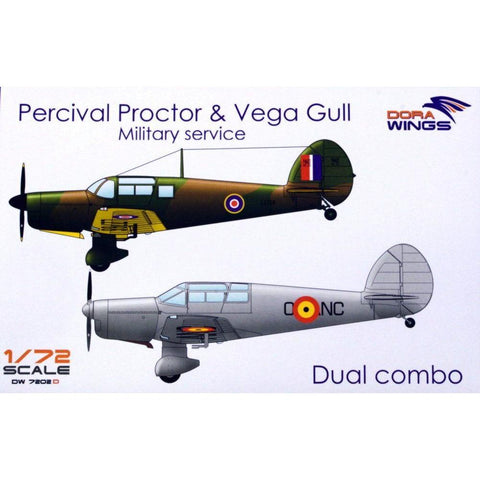DORA WINGS 1/72 Percival Proctor& Vega Gull (2 in 1)