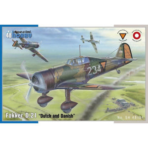 "SPECIAL HOBBY 1/48 Fokker D.21 ""Dutch and Dannish"" 1/48"