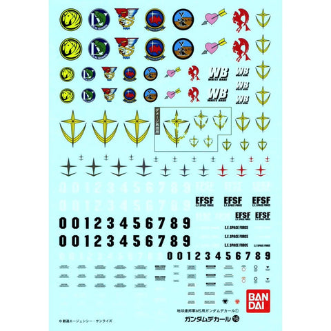 BANDAI Gundam Decal 16 MG Multiuse - Federation
