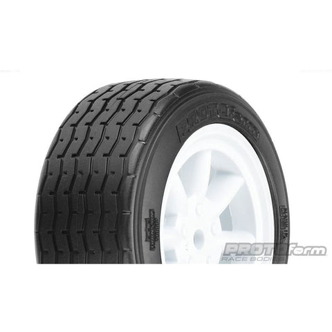 PROLINE PROTOform VTA Front Tyres 26mm Mounted on White