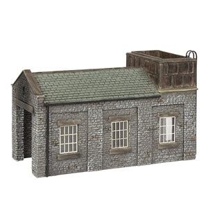 SCENECRAFT N Stone Engine Shed with Tank
