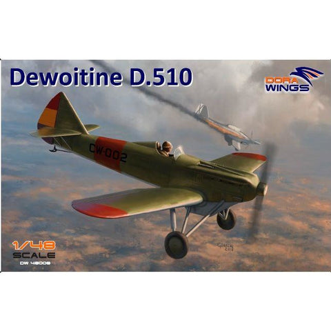 DORA WINGS 1/48 Dewoitine D.510 Spanish civil war (+bonus J