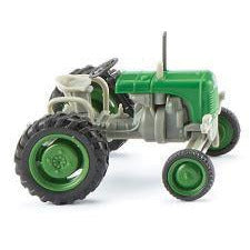 Wiking 1949 Steyr 80 Farm Tractor - Assembled -- Green, Gra