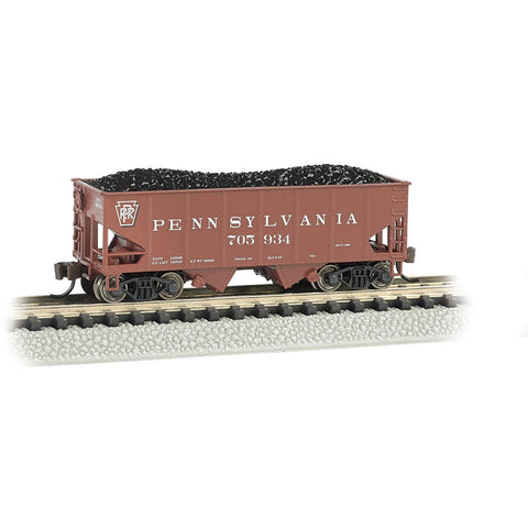 Image of BACHMANN N Scale 55-Ton 2 Bay Hopper PRR #705934